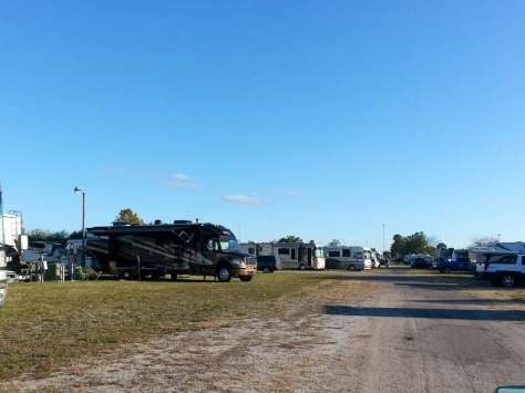 Racetrack RV Park in Daytona Beach Florida Roadway