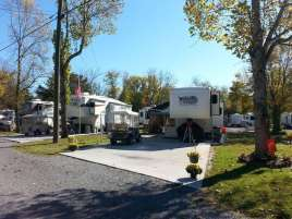 River Plantation RV Park in Sevierville Tennessee Concrete Backin