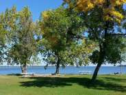 Sandy Shore Recreation Area near Watertown South Dakota Tent area by Lake