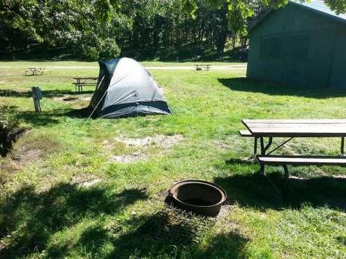 Spokane Creek Cabins & Campground near Keystone South Dakota tent site