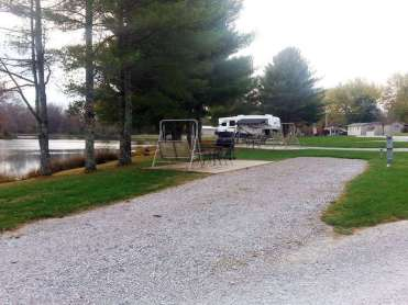 Spring Lake RV Resort in Crossville Tennessee backin next to lake