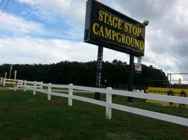 Stage Stop Campground in Winter Garden Florida Sign