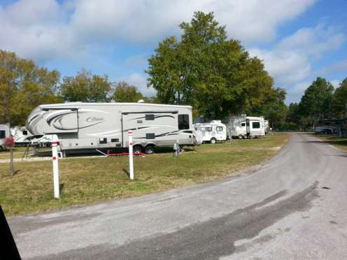 Stagecoach RV Park in St Augustine Florida Roadway