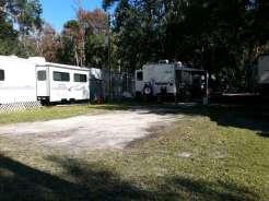 Sugar Mill Ruins Travel Park in New Smyrna Beach Florida Pull thru