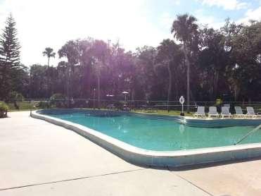 Sugar Mill Ruins Travel Park in New Smyrna Beach Florida Pool