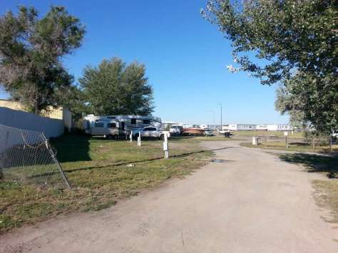 Sunset Village Mobile RV Park in Hardin Montana Backin