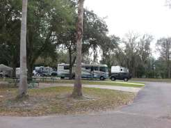 Tampa East RV Park in Dover Florida Concrete Site