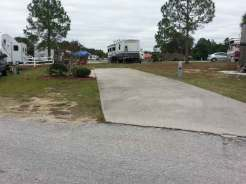 Thousand Trails Orlando in Clermont Florida Concrete Backin