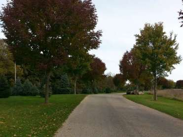 Timberline Campground in Waukee Iowa entrance road