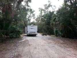Tomoka State Park Campground in Ormond Beach Florida Pull Thru