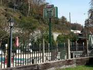 Twin Creek RV Resort in Gatlinburg Tennessee Sign and Pool