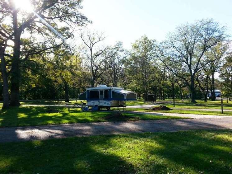 Walnut Woods State Park in West Des Moines Iowa RV site