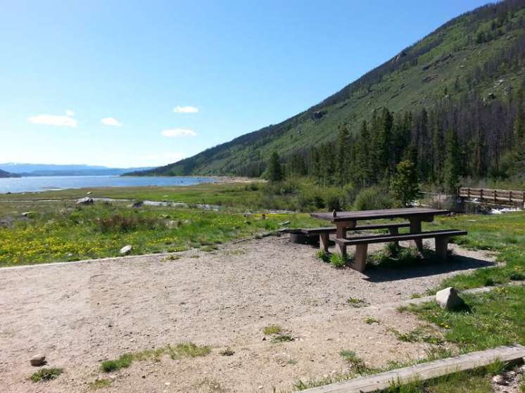 Arapaho Bay Roaring Fork Tent or RV Site Overlooking Lake Granby
