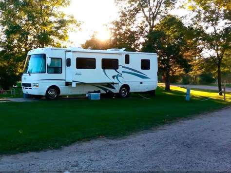 Ambush Park Campground in Benson Minnesota Hookups