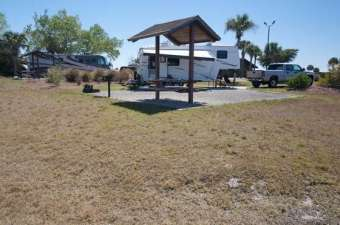 Ortona South COE Campground in LaBelle Florida Backin