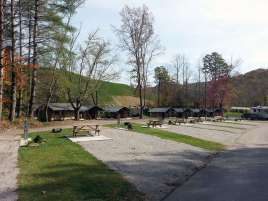 Camp LeConte Luxury Outdoor Resort in Gatlinburg Tennessee Pull thrus