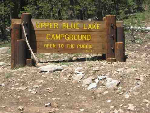 Blue Lakes Campgrounds Sierra Nevada Mountains California Ca