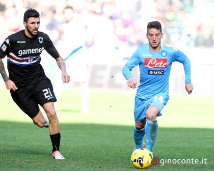 Napoli, una doppietta di Mertens mette ko la Sampdoria