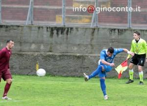 Roberto D'Auria, il bomber rimasto a secco domenica nel derby