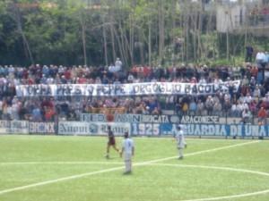 Uno striscione dedicato dei tifosi della Sibilla negli anni d'oro del club biancazzurro