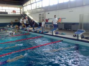 Un'immagine degli allenamenti del Flegreo alla piscina del Pala Trincone