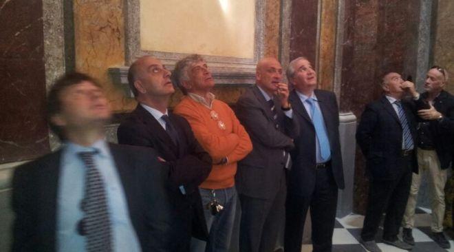 Rione Terra, visita a sorpresa del sottosegretario agli interni Giampiero Bocci