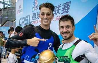 I bacolesi Massa ed Ingenito trionfano alla Super League di canoa polo in Cina