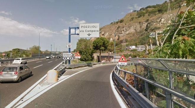 POZZUOLI/ Chiuso in entrata svincolo via Campana, direzione Napoli, fino al 15 aprile
