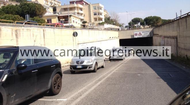 POZZUOLI/ Lunedì il tunnel del Montenuovo sarà chiuso dalle 9 alle 17 per lavori di manutenzione all'impianto fognario
