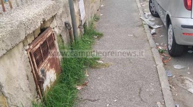 """QUARTO/ Degrado, rifiuti e abbandono all'esterno della scuola """"Rodari"""", l'allarme dei genitori - LE FOTO"""