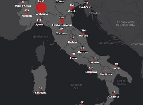 Covid19: 127 nel napoletano. In Italia oltre 10mila i contagiati