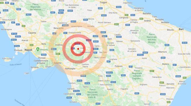 Trema l'Irpinia, due scosse di magnitudo 3.3 e 3.1: torna la paura