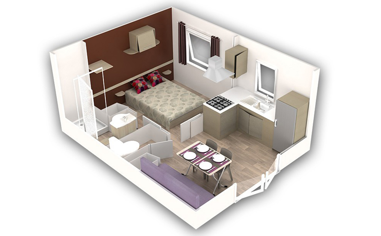 MOBIL HOME 2 PERS