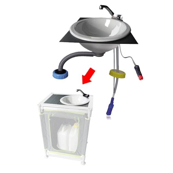 kit evier complet pour cuisine en camping
