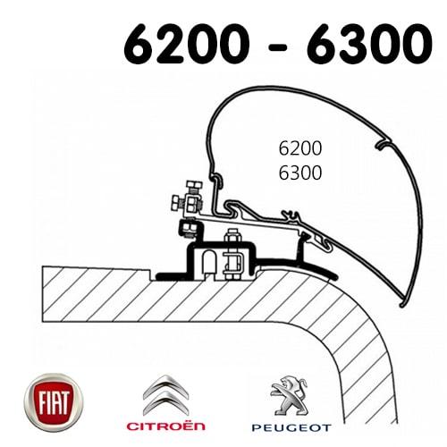 Adaptateur Store Thule 6300 Fourgon Ducato de 1994 à 2006