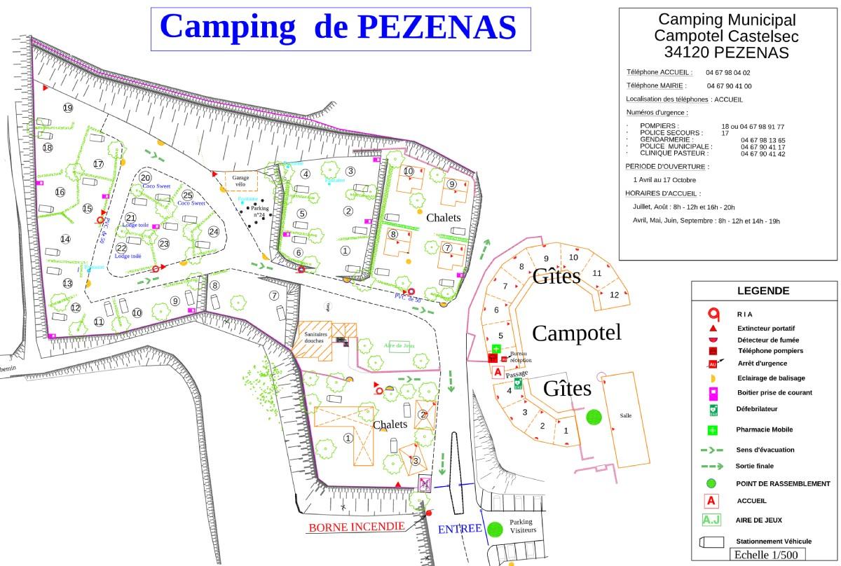 Plan de sécurité camping Pézenas