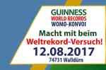 Mit einem Wohnmobilkonvoi in das Guinness-Buch der Rekorde