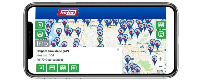 hoyer tankstellen finder app