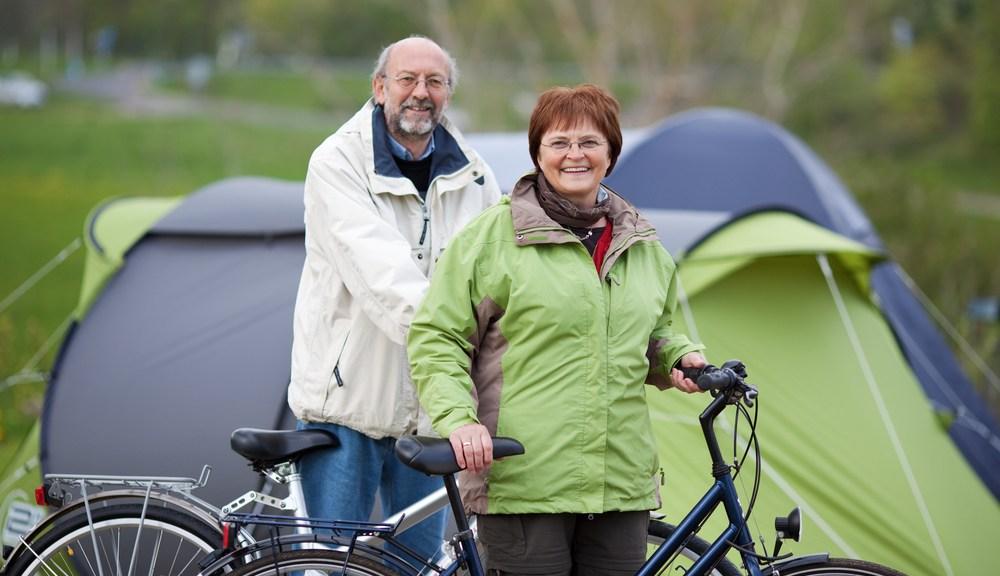 kamperen met fietsen