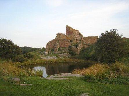 Hammershus Slotsruin pa Bornholm