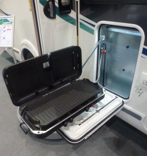 Smart kombinert gassgrill og gasskomfyr