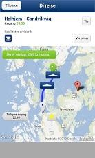 Fjord1 App med avgangstider for ferjer