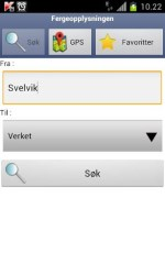 App med fergeopplysninger