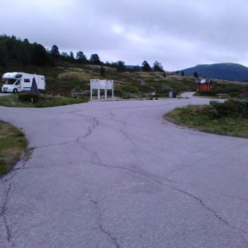 Rasteplass på riksvei 29 på grensen mellom fylkene Hedemark og Oppland