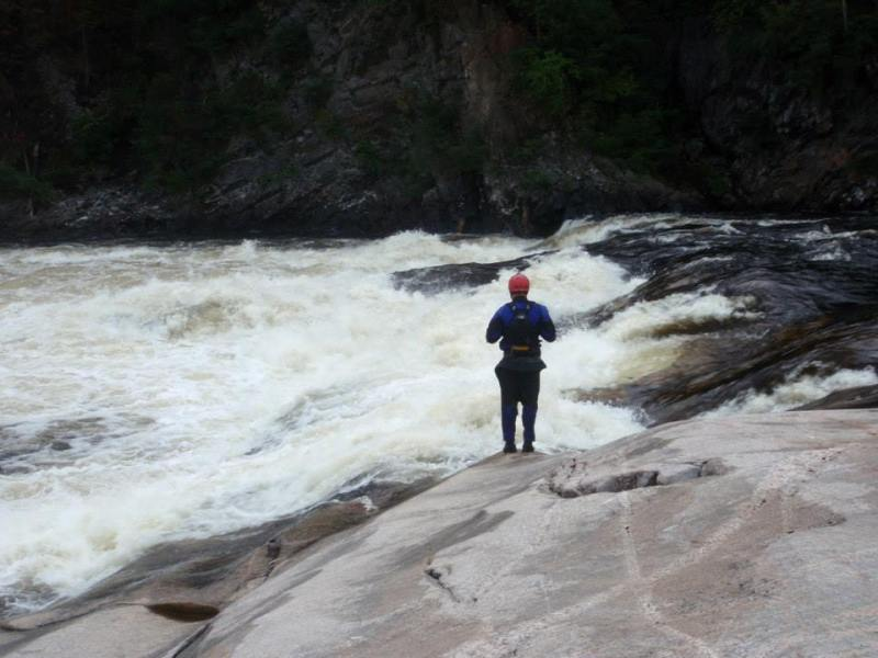 Jake ponders another big one on the Moisie River, Quebec.