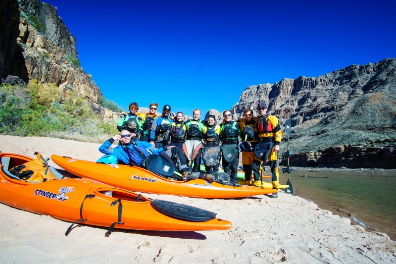 Group shot at the end of our 2016 self-support kayak trip through the Grand Canyon.