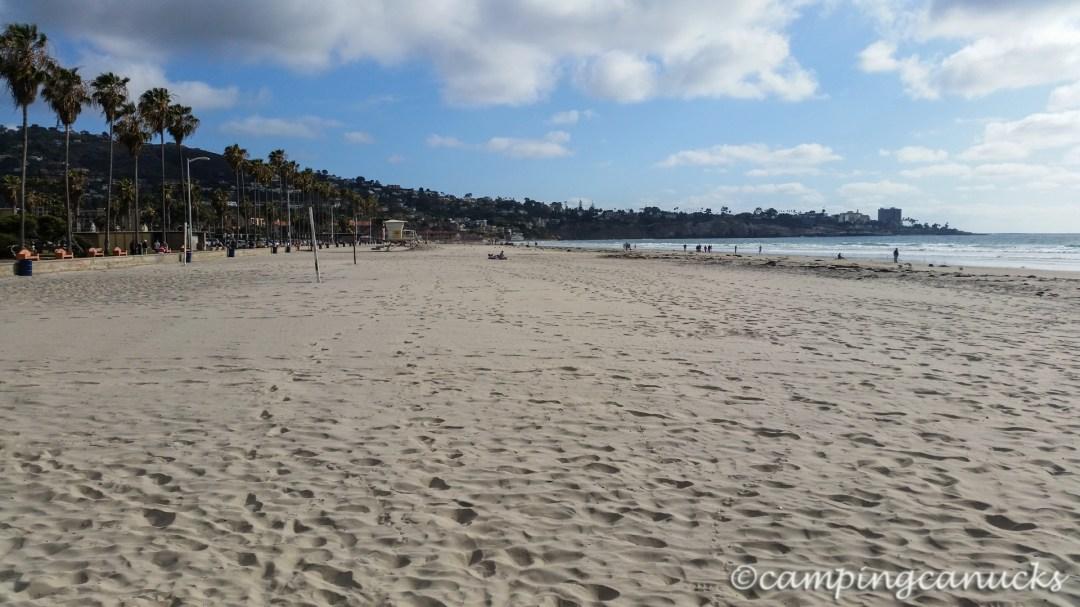 On the beach at La Jolla Shores