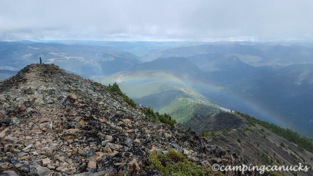 Rainbow greeting us on the way down