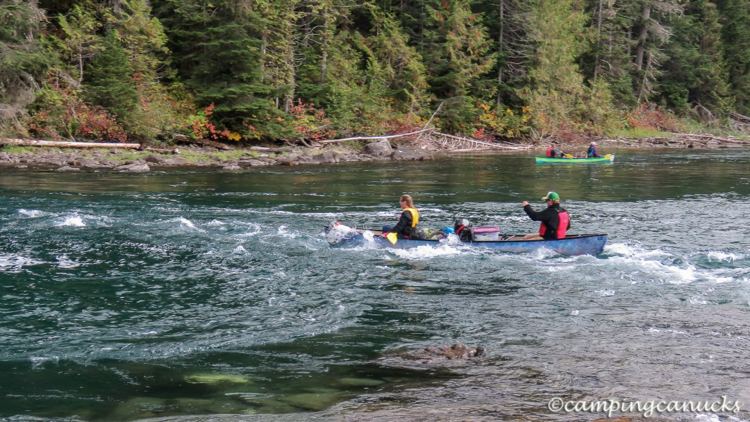 Another group running the rapids on the Isaac River