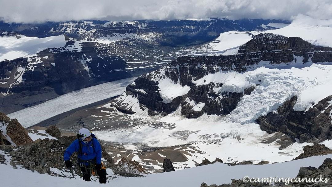 High above the Saskatchewan Glacier